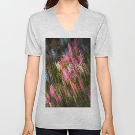 Flowering Crab Abstract Unisex V-Neck