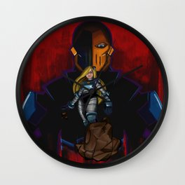 Evil Terra-forming With Deathstroke Wall Clock