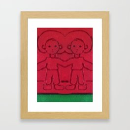 Red Two Framed Art Print