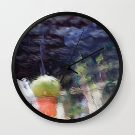 Through the window: Soft colors abstract Wall Clock