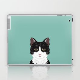 Quinn - Cute black and white cat tuxedo cat gifts for cat lady gift ideas cell phone case with cat Laptop & iPad Skin