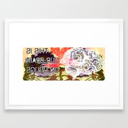 this is... brain Framed Art Print