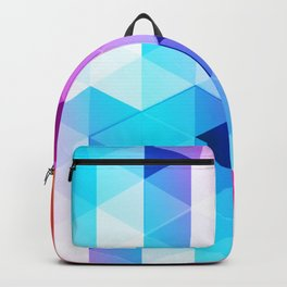 Abstract Triangle Colorful Backpack