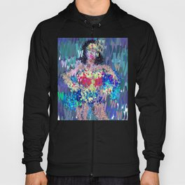 Wonder Type Woman - Abstract Pop Art Comic Hoody