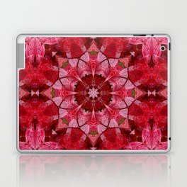 Red autumn leaves kaleidoscope - Cranberrybush Viburnum Laptop & iPad Skin