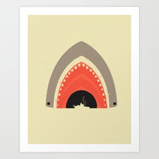 Great White Bite Art Print