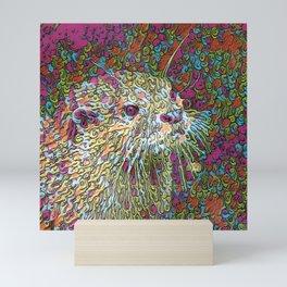 Abstract Otter Mini Art Print