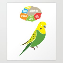 What Buggies Thing Funny Parrot Art Print
