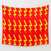 lightning Wall Tapestries featuring Lightning Bolt by Silvio Ledbetter