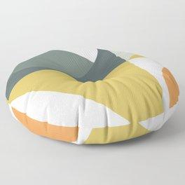 Mid Century Geometric 01 Floor Pillow