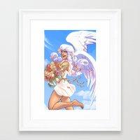 daunt Framed Art Prints featuring Angel Bloom by Daunt