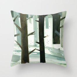 TREES STUDY #2 Throw Pillow