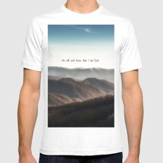 Be still and know that I am God Mens Fitted Tee MEDIUM White