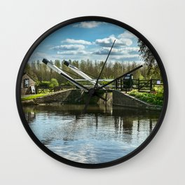 Bridge 221 On The Oxford Canal Wall Clock