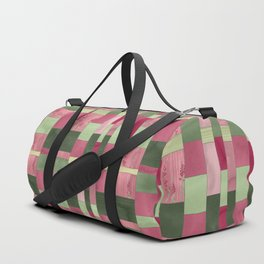 Weaver's Dream / Geometric Meets Floral Duffle Bag