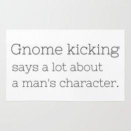 Gnome kicking - GG Collection Rug