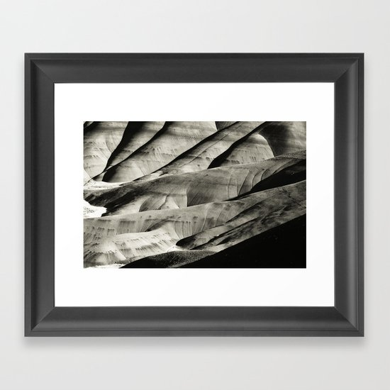 Painted Hills Monotone Framed Art Print