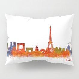 Paris City Skyline Hq v2 Pillow Sham
