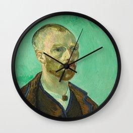 Self Portrait (dedicated to Paul Gauguin) Wall Clock