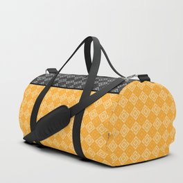 Black , yellow ,geometric Duffle Bag