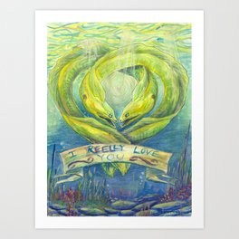rEEL love Art Print