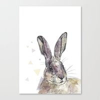 hare Canvas Prints featuring Hare by Anya Raczka