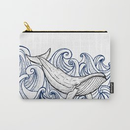 Whale Then Carry-All Pouch