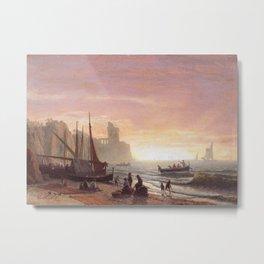The Fishing Fleet 1862 By Albert Bierstadt | Reproduction Painting Metal Print