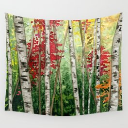 Fall Woods Wall Tapestry