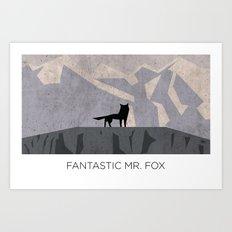Minimalist Fantastic Mr. Fox Art Print