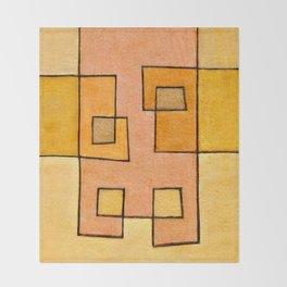 Protoglifo 04 'yellow hugging pink' Throw Blanket