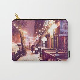 Winter Night with Snow in the East Village New York City Carry-All Pouch
