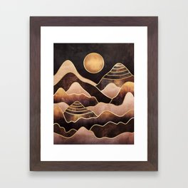 Sunkissed Mountains Framed Art Print