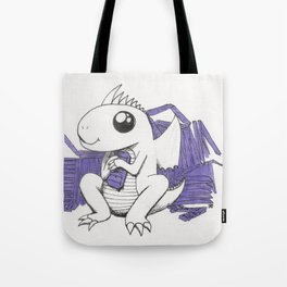 Baby Dragon Hoards Carnival Tickets Tote Bag