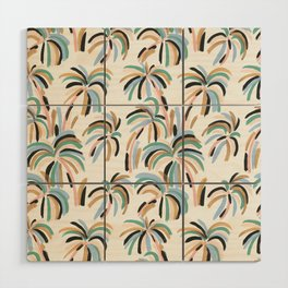 Rainbow Palm Wood Wall Art