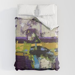 Controversy Prince Deep Purple Abstract Painting Modern Art Comforters