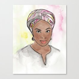 Chimamanda Canvas Print