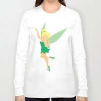 tinker bell Long Sleeve T-shirts featuring Tinker bell by Dewdroplet