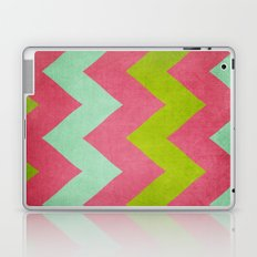 Cocktails with Lilly - Pink, Aqua, Green Chevron Laptop & iPad Skin
