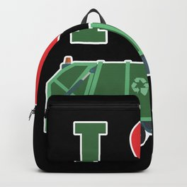 Garbage Truck Love Kids Trash Recycling Driver  Backpack