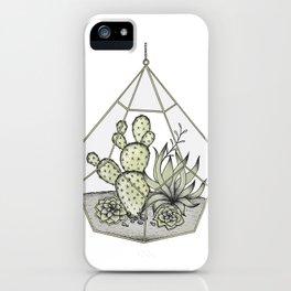 Succulent Terrarium iPhone Case
