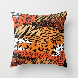 Animal Kingdom African Hide pattern Throw Pillow