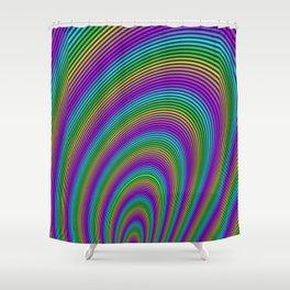 Fractal Rainbow Tunnel Shower Curtain