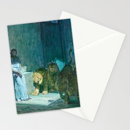 African American Masterpiece 'Daniel in the Lion's Den' by Henry Ossawa Tanner Stationery Cards