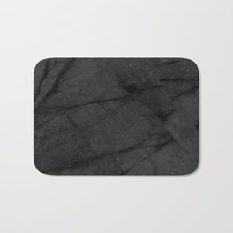 Dark Grey Matte Black Marble Bath Mat