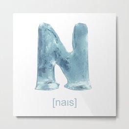 N-Ice Metal Print