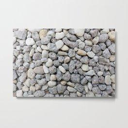 White and grey roadstone Metal Print