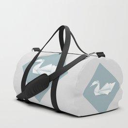 Origami swan Duffle Bag