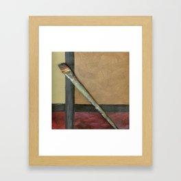Artist Brush On Abstract Copper Canvas Artwork - Vintage - Modern Art - Corbin Henry Framed Art Print