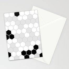 Honeycomb Pattern | Black and White Design | Minimalism Stationery Cards